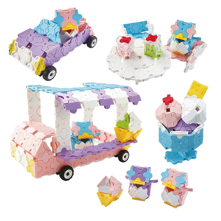 LaQ(ラキュー)スイートコレクション アイスクリームワゴン